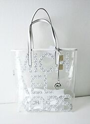 Michael Kors The Michael Bag LG Tote Bag Bright White Multi $100.95