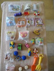 Lot Of 24 Mixed Vintage Mcdonald's Happy Meal Toys - Some Sealed