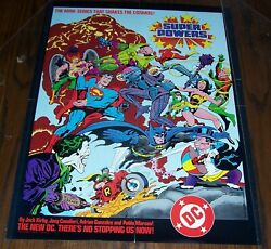 Rare 17 X 22 Jack Kirby's Super Powers Royer, 1984, Dc Comics Promo Poster New