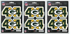100 Count Lot Nfl Green Bay Packers Truck Auto 4x4 Decal Stickers Retail Blowout