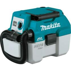 Makita Wet Dry Dust Extractor Vacuum 18-volt 2 Gal. Hepa Portable Tool Only