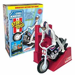 Wind Up And Go Extreme Knievel Stunt Cycle Toy Kids Motorcycle Bike Jump