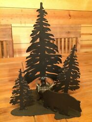 Forest And Bear Tea Light Candle Holder