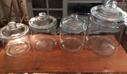 Anchor Hocking Pastry Decor Glass Cookie Jars