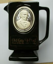 Vintage Old Grand Dad Head Of The Bourbon Family Pitcher Decanter