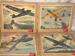 Lot Of 19 Vintage 1943 Ww2 Coca Cola Lithograph Cardboard Prints Signs Pictures