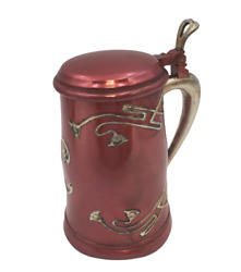 Rare Sterling Silver And Metal Bar Tankard By J. Braitsch