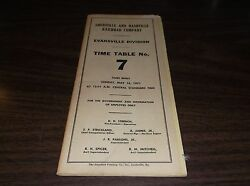 May 1971 Landn Louisville And Nashville Evansville Division Employee Timetable 7