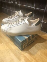Adidas Extremely Rare Og Vintage Rod Laver Trainers Made In France Unworn 1970andrsquos