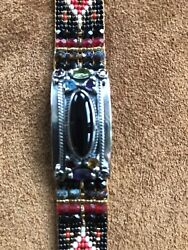 Chili Rose Beaded Bracelet Adonnah Langer Nwt 1,295 One Of A Kind Beautiful