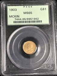 1903 G1 Mckinley La Purchase Gold Commemorative Dollar Ms-65 Pcgs Nice Coin