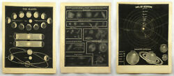 Antique Smith Illustrated Astronomy Space Etchings Solar System Nebulae Seasons