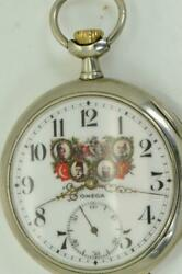 Important Historic Wwi German Officerand039s Award Omega Pocket Watch C1916.rare
