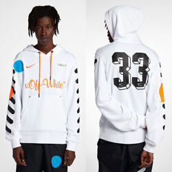 Nike Off White Hoodie World Cup White Orange Aa3257-100 Size Small Brand New Tag