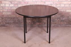 Jens Risom Mid-century Modern Black Lacquered Game Table