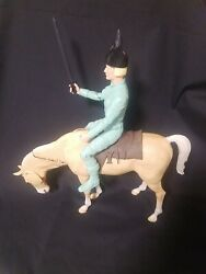 Brave Erik The Viking Marx With Accessories Johnny West Series W/ Horse
