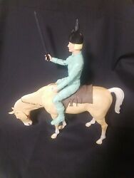 Brave Erik The Viking Marx With Accessories, Johnny West Series W/ Horse