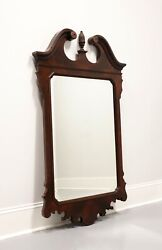 Drexel Heritage Chippendale Crotch Mahogany Beveled Mirror