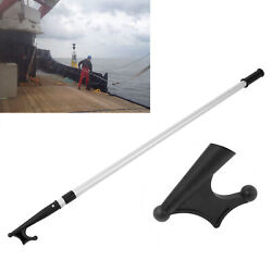 Extendable Boat Hook Rope Tool Telescopic Shaft Pole Durable Marine Accessory
