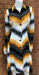 Missoni Zigzag Crochet Knit Coat Made In Italy Size Uk 10 Retail Andpound1780