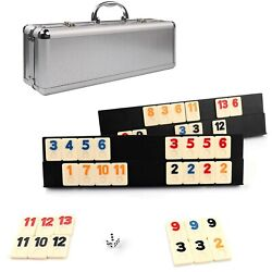 Kaile 106 Rummy Tiles Game Rummy Cube Sets Travel Game Outlasting Color With...