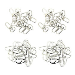 40x Plated Key Ring Trigger Snap Hook Iron Solid 360° Swivel Clasp Diy