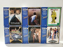Lot Of 6 Blockbuster Movie Puzzles 500pc Titanic Footloose Back To The Future...
