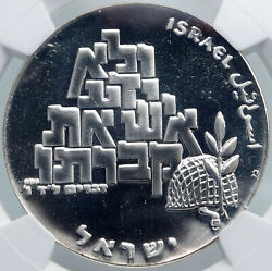 1969 Israel Moses Peace Soldier Shalom Vintage Pf Silver 10lirot Coin Ngc I87970