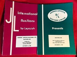 Downie-lepczyk Coin Auctions Archive 1985-1988 With Pr