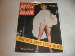Man To Man May And03955 Marilyn Monroe -classic Photo Cover -collectible