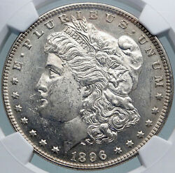 1896 United States Of America Silver Morgan Us Dollar Coin Eagle Ngc Ms I87820