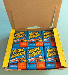 Topps Vault - 1974 7th Series Wacky Packages Stickers 23 Sealed Packs + Rare Box