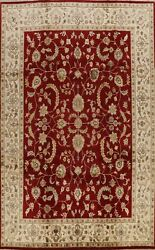 Vegetable Dye Hand-knotted Floral Oriental Area Rug Traditional Wool Carpet 9x12