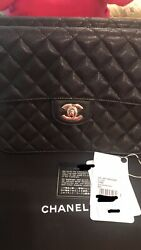 Nwt- 21c Caviar Large Flap Case- Black Sold Out At All Boutiques