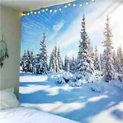 Years Snowflakes Change 3d Wall Hang Cloth Tapestry Fabric Decorations Decor