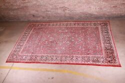 Semi-antique Hand-knotted Sarouk Room Size Rug, Circa 1940s