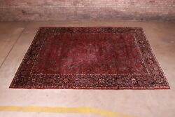 Antique Hand-knotted Sarouk Room Size Rug, Circa 1920s