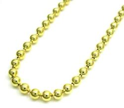 14k Yellow Gold Mens Womens Military Dog Tag Plain Chain Necklace 4mm 16 - 24