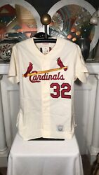 Authentic Steve Carlton Mitchell And Ness St Louis Cardinals Wool Jersey 32 Nwt