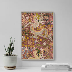 Dragons And Flowers Tapestry 12th-century - Painting Poster Art Print Gift