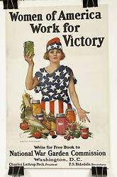 Original Us Wwi Poster National War Gardens Commission, Home Canning Rare