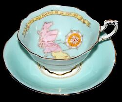 Patriotic Series Paragon Tea Cup Saucer -will Always Be England- Double Warrant