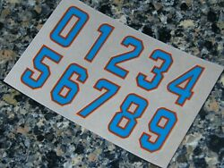Miami Dolphins 2020 Football Helmet Numbers Decals Sheet 0-9 Full Size 3m 20mil