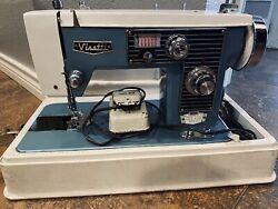 Vintage Visetti Super De Luxe Zig Zag Sewing Machine- Comes With Carrying Case
