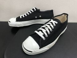 Dead Stock 1990's Converse Jack Purcell Sneakers Black Canvas Us10 28.5cm