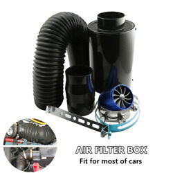 Car Universal Filter Box Title Carbon Fiber Induction Ram Cold Air Intake System