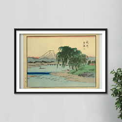 Hiroshige Ii Picture Album 13 - River View Of Mount Fiji - Painting Poster Art