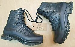 New Meindl German Army Sf Issue Black Leather Goretex Combat Boots Size 9 Uk
