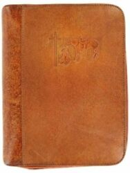 M And F Western Unisex Cowboy Prayer Leather Bible Cover - 0650608