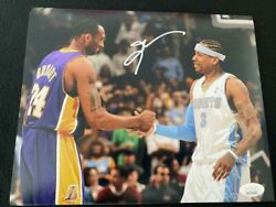 Allen Iverson Vs Kobe Autographed Denver Nuggets 8x10 Photo Must See
